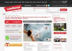 Diseño página web de LetsBonus